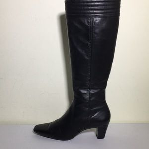 Cole Haan Tall Black Leather boots size 8.5 B